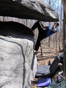 "Rock Climbing Photo: Tyler on ""Atrophy"" (V5), Mid Boneyard, G..."