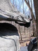 "Rock Climbing Photo: Tyler on ""Atrophy"" (V5), Mid Boneyard, G..."