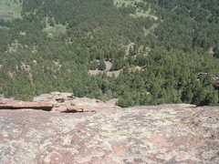 Rock Climbing Photo: Looking back down the Direct East Face, First Flat...
