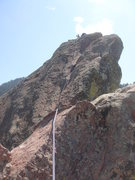 Rock Climbing Photo: Me, after leading the first ridge traverse of the ...