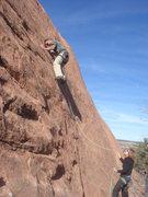 Rock Climbing Photo: Lee on the Thin Line.