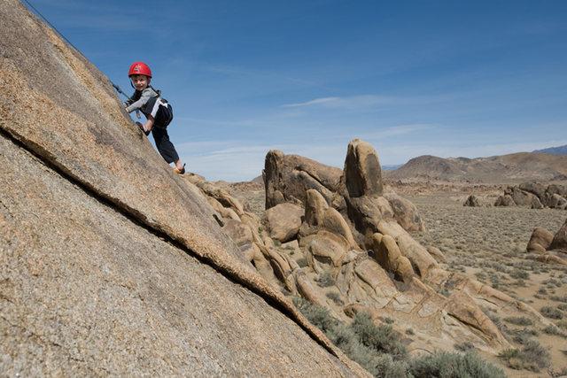 Rock Climbing Photo: Bryson Fienup (at age 4) climbs Rhythm of the Rang...