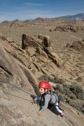 Rock Climbing Photo: Bryson Fienup (at age 4) nears the anchors atop Ro...