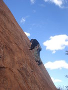 Rock Climbing Photo: On the thin edges of the Captain.