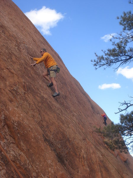 Rock Climbing Photo: Bruce Vollmer on the Captain.