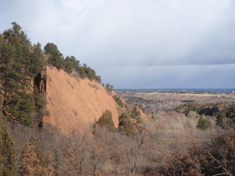 Rock Climbing Photo: Wailing Wall, looking north.