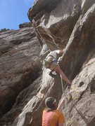 Rock Climbing Photo: Bruce Vollmer on the difficult slab start.