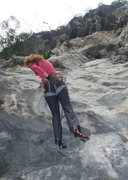 Rock Climbing Photo: Anja on Very Tot 6b+ Butterfly Valley-Vietnam