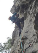 Rock Climbing Photo: Anja on You Enjoy Myself 6b Butterfly Valley Vietn...