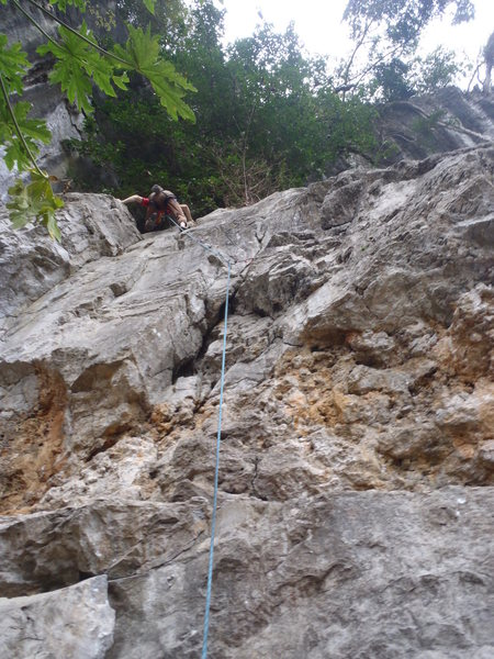 Rock Climbing Photo: Urs on Chuyen Nui.