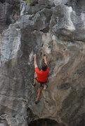 Rock Climbing Photo: Ken on Barefoot Vietnamese on Moody Beach in Ha Lo...