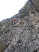 Rock Climbing Photo: Ken on Mao De Moody Beach Vietnam