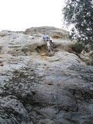 Rock Climbing Photo: Rob Beno leading Wind Beneath Her Wings 5.7