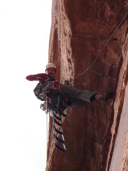 Rock Climbing Photo: At the C2 roof crux