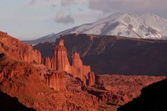Rock Climbing Photo: Sunset on the Fisher Towers