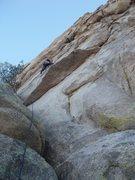 Rock Climbing Photo: Looking up the start