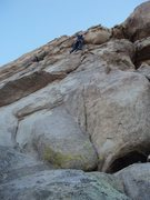 Rock Climbing Photo: racing daylight through the overhang