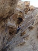 Rock Climbing Photo: starting up the steep part,  just keep telling you...