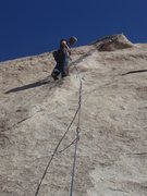 Rock Climbing Photo: above the crux... I was a little bummed that the l...