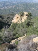 Rock Climbing Photo: The top of Hermit Rock as seen from Camino Cielo/C...