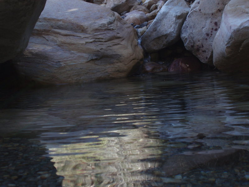 Rock Climbing Photo: crystal clear waters in Pine Creek