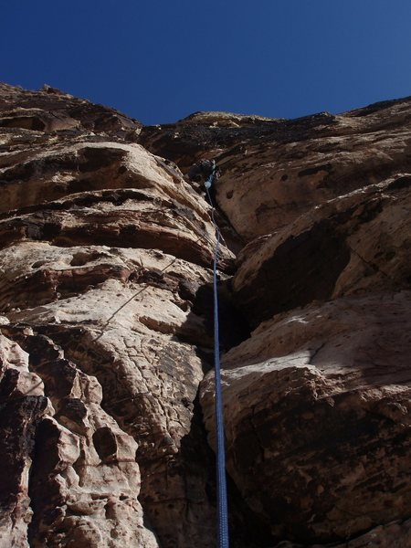 Rock Climbing Photo: Starting up the first pitch of the Cat