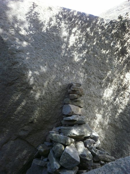 "Rock Climbing Photo: the ""walk off"" on the SW corner of the r..."