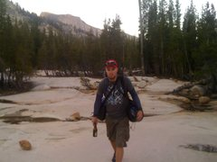 Rock Climbing Photo: Walking back across the slabs.