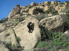 Rock Climbing Photo: Stefan Harms on Chouinard's Slab.