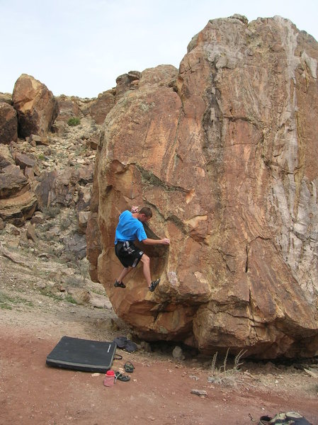 Rock Climbing Photo: The start is the chalked up hold directly to the r...