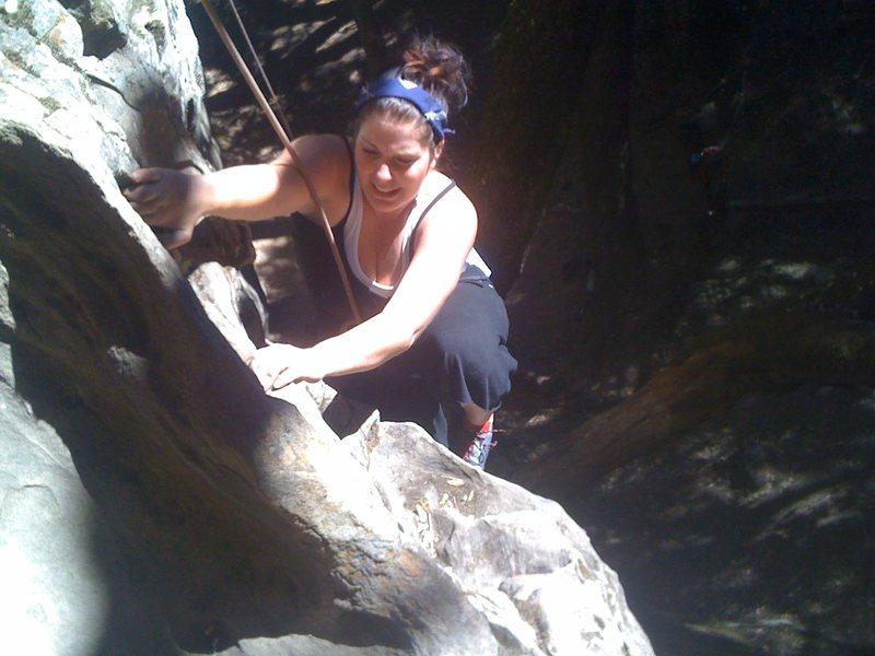 Rock Climbing Photo: Kara half way up.