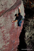 Rock Climbing Photo: Peter Vintoniv on the second lead of Gills Nose Di...