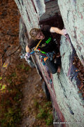 Rock Climbing Photo: Vince barefoot. Photo by Andrew Burr.