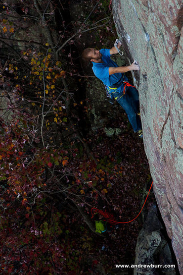 Rock Climbing Photo: Peter Vintoniv. Photo by Andrew Burr.