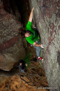 "Rock Climbing Photo: Ice climber ""Jugs"" NOT in his element! P..."