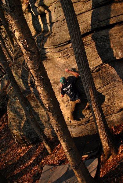 Rock Climbing Photo: Making the move