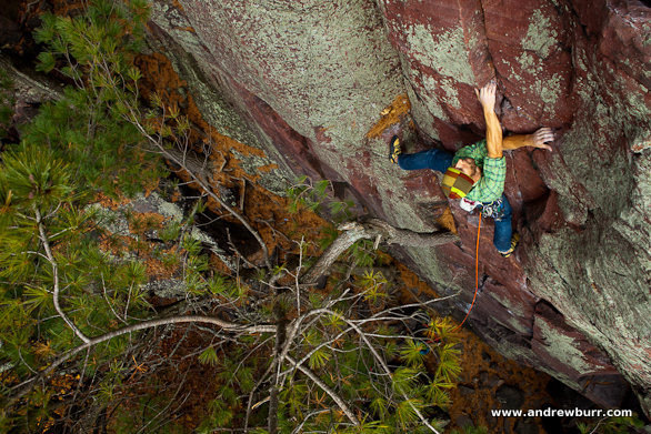 Andrew Burr pic from Climbing Magazine March 2011.