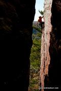 Rock Climbing Photo: Burt Lindquist. Photo by Andrew Burr.
