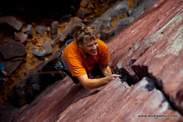 Rock Climbing Photo: Burt Lindquist and the Climbing Magazine photo tha...