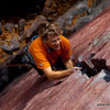 Burt Lindquist and the Climbing Magazine photo that made him famous. Photo by Andrew Burr.