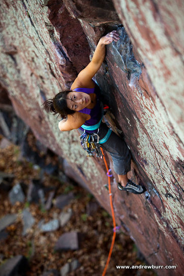 Rock Climbing Photo: Jules Cho. Photo by Andrew Burr.