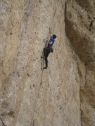 Rock Climbing Photo: The first of three successive two-finger pockets. ...
