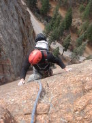 Rock Climbing Photo: Crack Parallel - P2, N. Cheyenne Canyon.  Photo by...