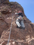 Rock Climbing Photo: Leading the final pitch of the Army Route, N. Chey...