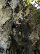 Rock Climbing Photo: Alex on the opening route of The Mitt...