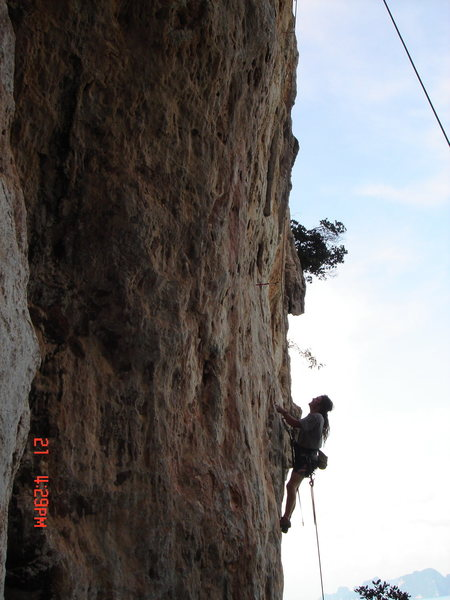 Rock Climbing Photo: Mark and Drew working on establishing When I Paint...