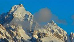 Rock Climbing Photo: Winter conditions on Grand Teton and Mt. Owen.