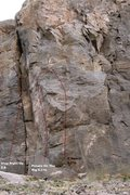 Rock Climbing Photo: All You Can Eat Cliff Right Center Topo