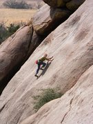 Rock Climbing Photo: Midway up the route