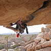 TR send on:<br> More Monkey Than Funky [11b/c]<br> Joshua Tree - Barker Dam<br> <br> my first roof crack